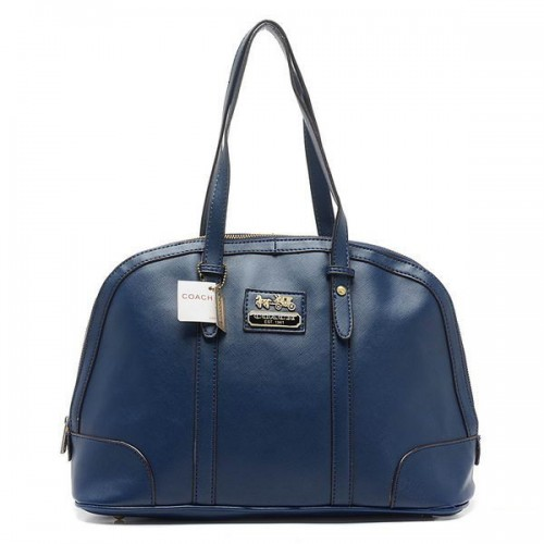 Coach Bleecker Bistro Large Navy Satchels AOE