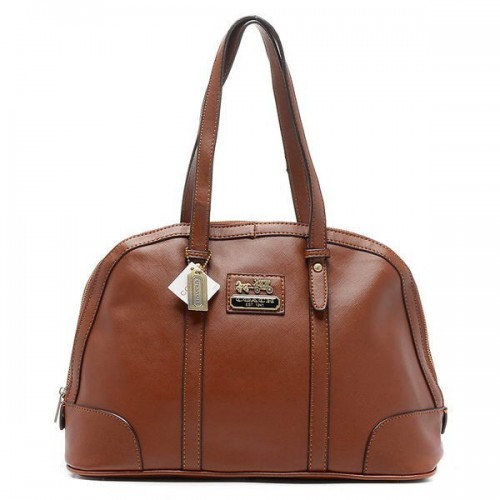 Coach Bleecker Bistro Large Brown Satchels AOF