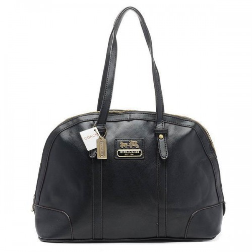 Coach Bleecker Bistro Large Black Satchels AOG