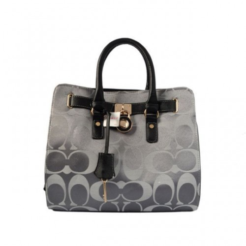 Coach Lock Medium Grey Totes AOQ