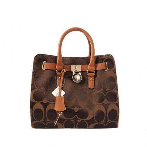 Coach Lock Medium Camel Totes AOR