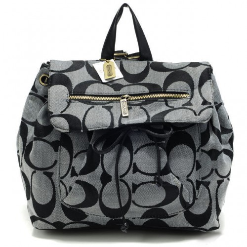 Coach Classic In Signature Medium Grey Backpacks AOT