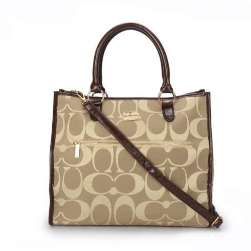 Coach In Signature Large Khaki Totes APD