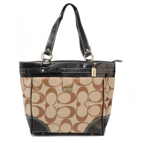 Coach Legacy In Signature Medium Khaki Totes APH