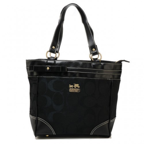 Coach Legacy In Signature Medium Black Totes APK