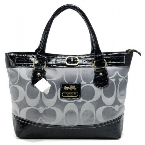Coach Madison In Signature Medium Grey Totes APQ