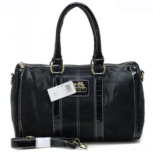 Coach In Signature Medium Black Luggage Bags APW