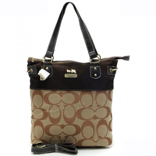 Coach Legacy In Signature Medium Khaki Totes APX