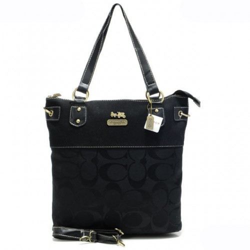 Coach Legacy In Signature Medium Black Totes AQA