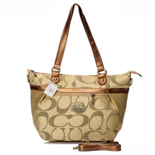 Coach In Signature Small Khaki Totes AQB