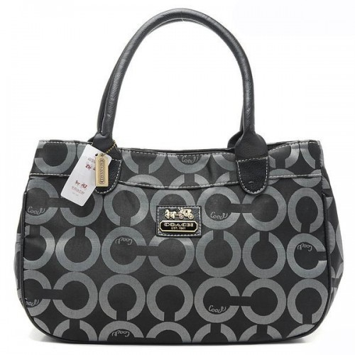 Coach In Signature Large Grey Satchels AQG