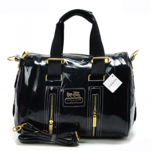 Coach Smooth Medium Black Luggage Bags AQN