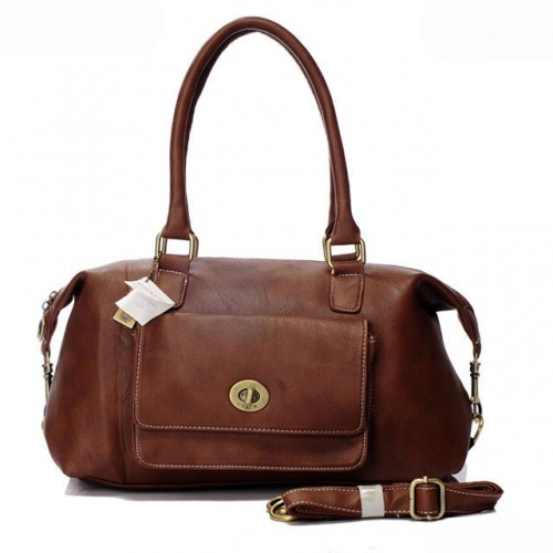 Coach Madeline East West Medium Brown Satchels ARB