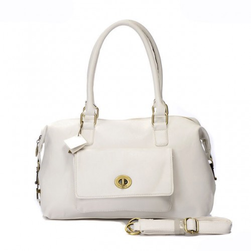 Coach Madeline East West Medium White Satchels ARC