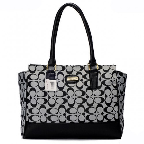 Coach Legacy Candace In Signature Medium Grey Satchels ARF