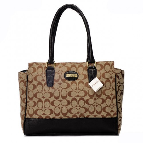 Coach Legacy Candace In Signature Medium Camel Satchels ARG