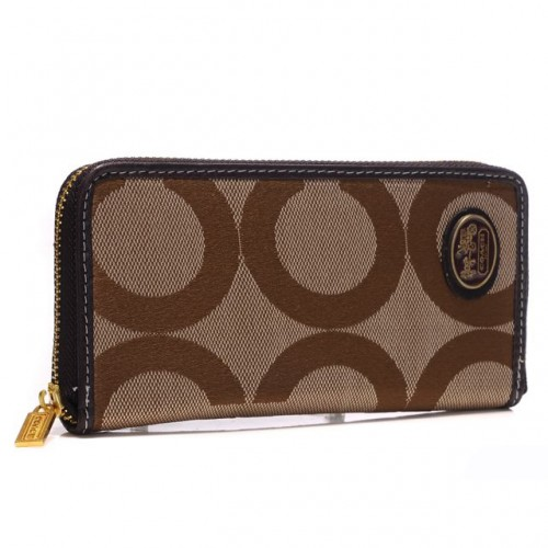 Coach Big Logo Large Camel Wallets ARH