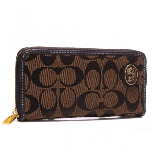 Coach Logo Large Coffee Wallets ARL