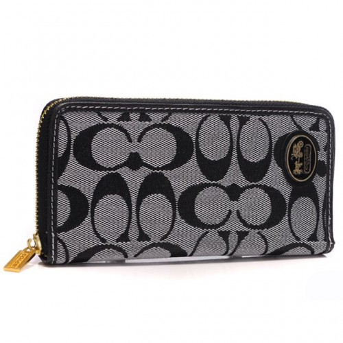 Coach Logo Large Grey Wallets ARM