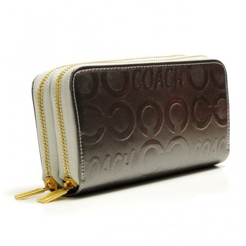 Coach In Signature Large Silver Wallets ARV