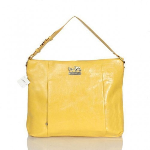 Coach Phoebe Large Yellow Shoulder Bags ASC