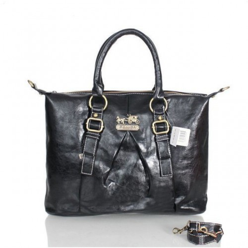 Coach In Signature Medium Black Satchels ASE