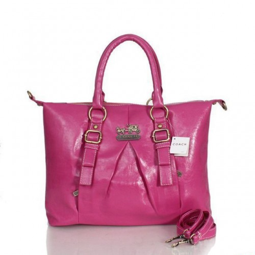 Coach In Signature Medium Fuchsia Satchels ASF