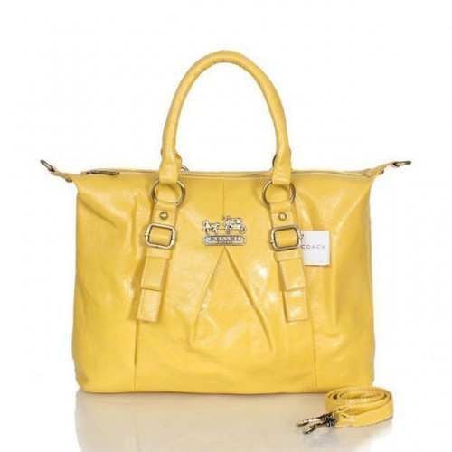 Coach In Signature Medium Yellow Satchels ASG