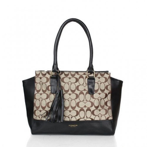 Coach Legacy Candace In Signature Medium Black Satchels ASN