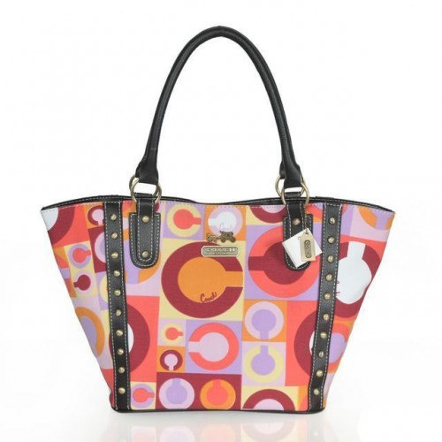Coach Poppy Stud Medium Multicolor Totes ASQ