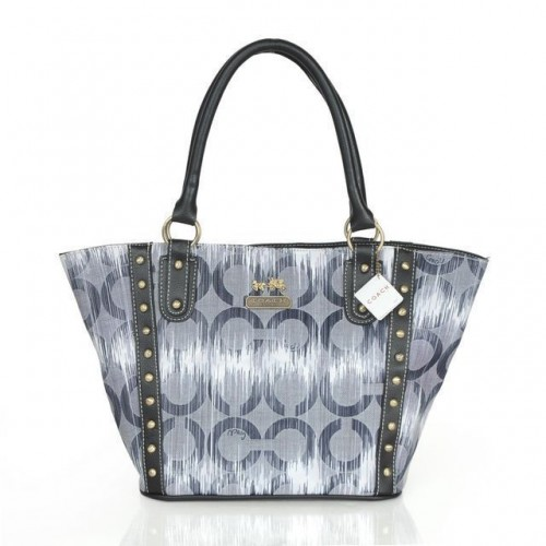 Coach Poppy Stud Medium Grey Totes AST