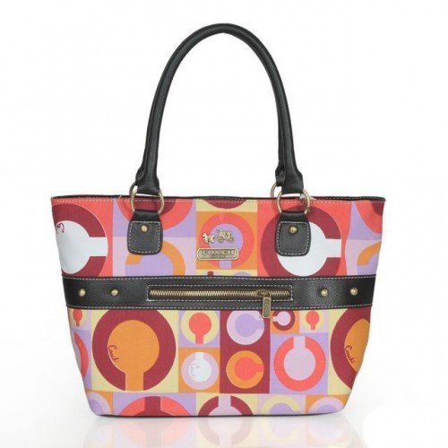 Coach Poppy Stud Medium Multicolor Totes ASU