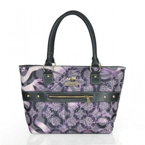 Coach Poppy Stud Medium Purple Totes ASW