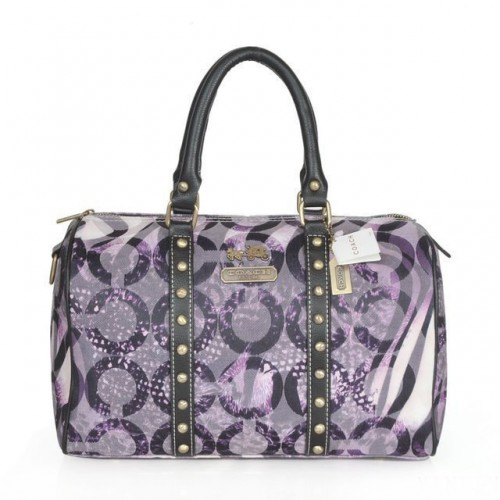 Coach Poppy Stud Medium Purple Luggage Bags ATA