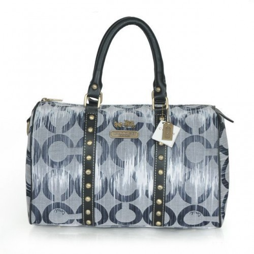 Coach Poppy Stud Medium Grey Luggage Bags ATB