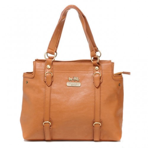 Coach Logo Medium Camel Totes ATC