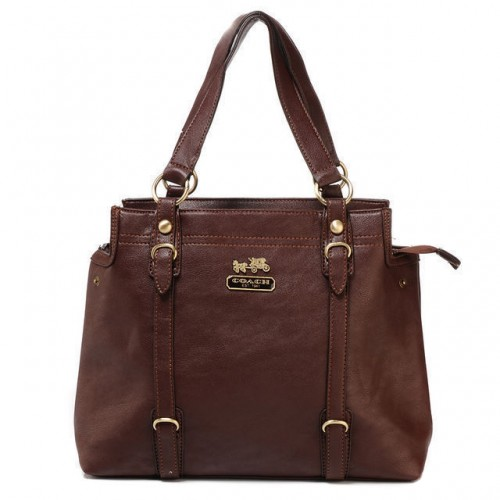 Coach Logo Medium Coffee Totes ATG