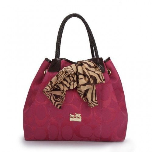 Coach North South Scarf Large Fuchsia Totes ATR