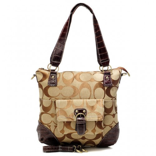 Coach In Signature Medium Coffee Totes ATW