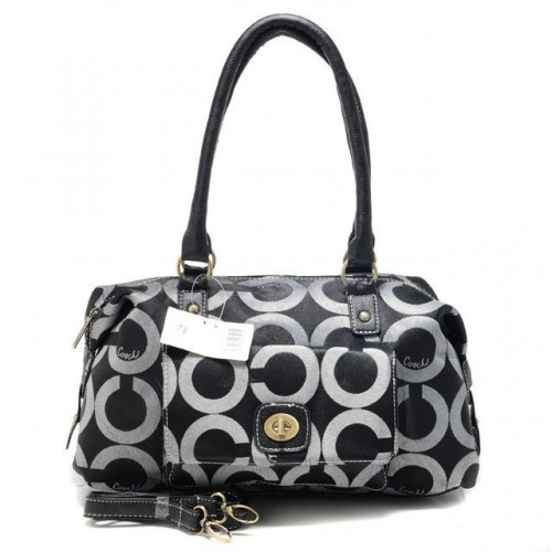 Coach Madeline East West Medium Black Satchels ATX
