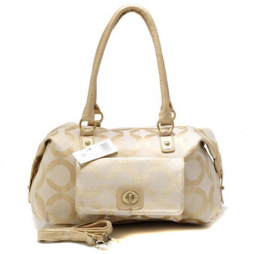 Coach Madeline East West Medium Khaki Satchels ATY