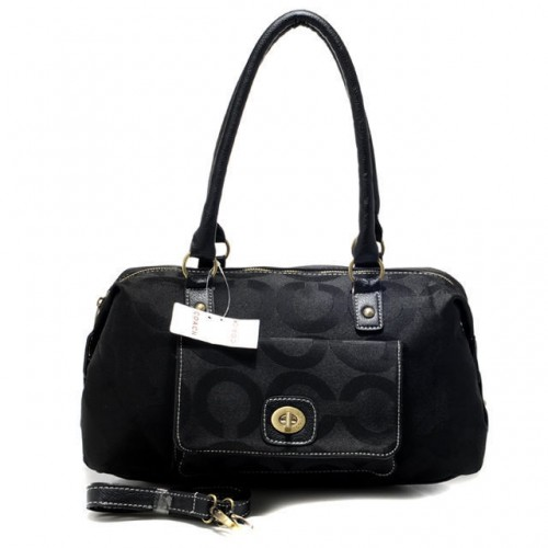 Coach Madeline East West Medium Black Satchels ATZ
