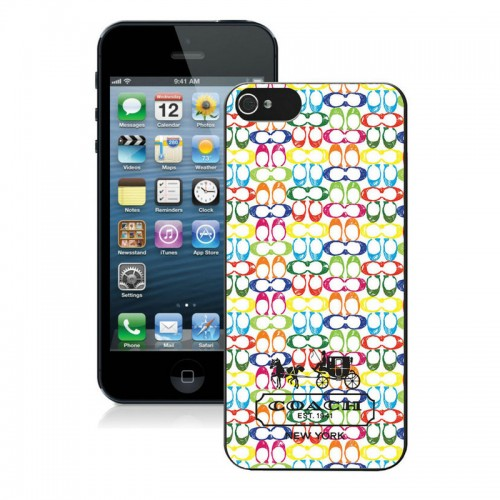 Coach Logo Multicolor iPhone 5 5S Cases AUK