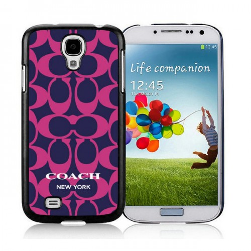 Coach Logo Monogram Purple Samsung Galaxy S4 9500 AUV