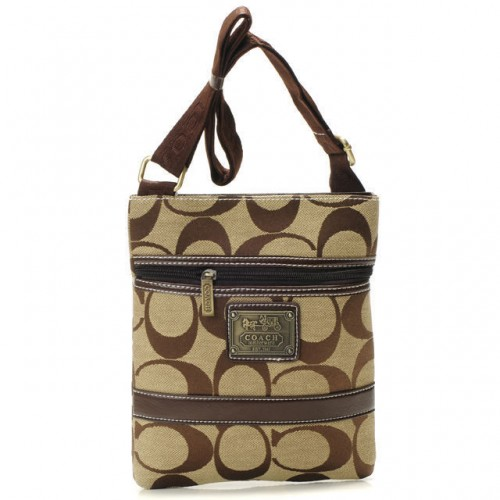 Coach Legacy Swingpack In Signature Small Khaki Crossbody Bags A