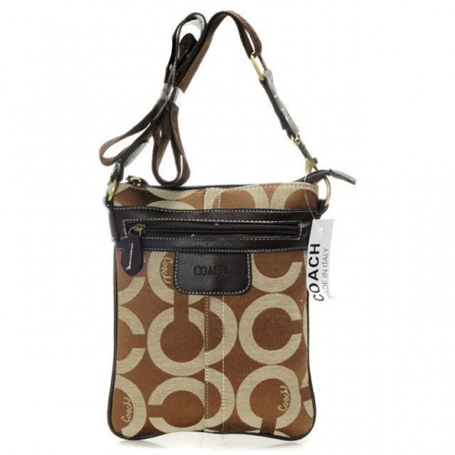 Coach Legacy Swingpack In Signature Small Camel Crossbody Bags A