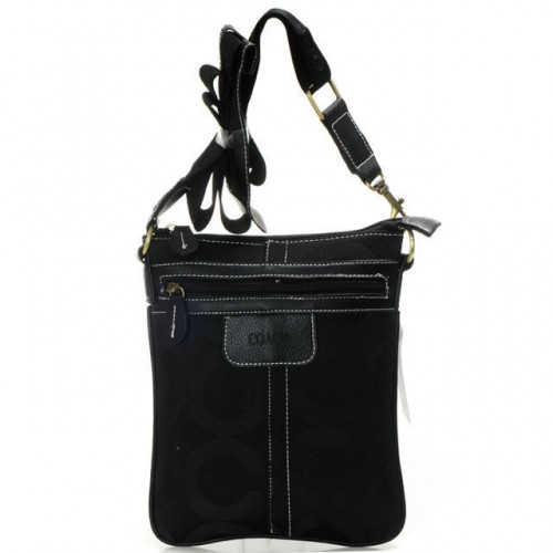 Coach Legacy Swingpack In Signature Small Black Crossbody Bags A