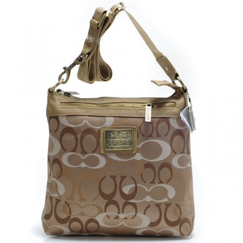 Coach Legacy Swingpack In Signature Large Khaki Crossbody Bags A