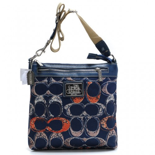 Coach Legacy Swingpack In Signature Large Navy Crossbody Bags AV