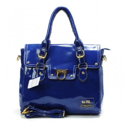 Coach Sadie Flap In Spectator Medium Navy Satchels AVQ